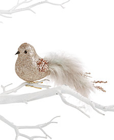 Holiday Lane Champagne Bird Clip Ornament, Created for Macy's