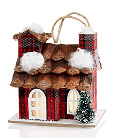 Christmas Cheer Paper LED Plaid House Ornament Created For Macy's
