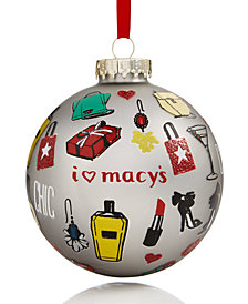 Holiday Lane Macy's Chic Patterned Ornament, Created for Macy's