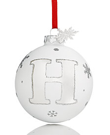 Holiday Lane Initial 'H' Ball Ornament, Created for Macy's