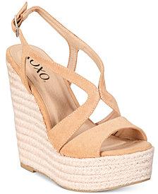 XOXO Sabeen  Espadrille Wedge Platform Sandals