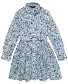 Polo Ralph Lauren Toddler Girls Cotton Shirtdress