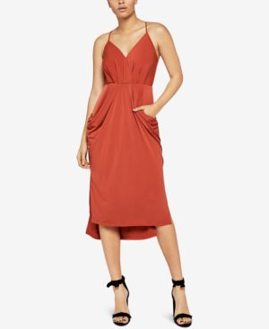 BCBGeneration Draped Surplice Midi Dress 6619872