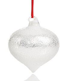 Holiday Lane White Glass Onion Ornament, Created for Macy's