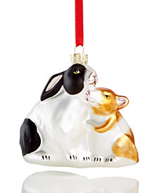 Holiday Lane Rabbit Family Ornament, Created for Macy's