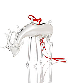 Holiday Lane Glass Deer Hanging Ornament, Created for Macy's