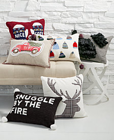 Martha Stewart Collection Holiday Decorative Pillow Collection, Created for Macy's