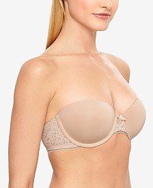 b.tempt'd by Wacoal Modern Method Strapless Picot-Trimmed Bra 954217