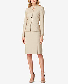 Tahari ASL Four-Button Skirt Suit, Regular & Petite