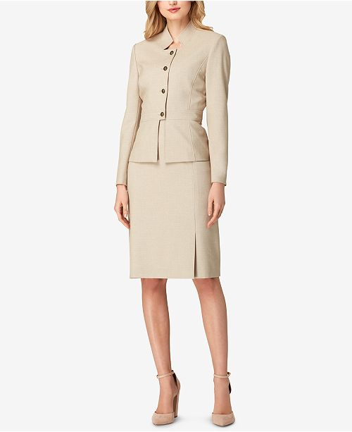 addf2660aa8 ... Tahari ASL Four-Button Skirt Suit