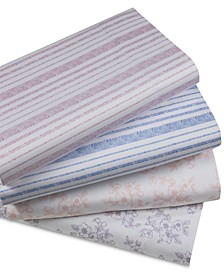 Organic 4-Pc. Printed Sheet Sets, 500 Thread Count GOTS Certified Cotton