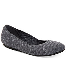 Alfani Step 'N Flex Tamii Knit Flats, Created for Macy's