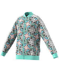 adidas Originals Big Girls Zoo-Print Track Jacket
