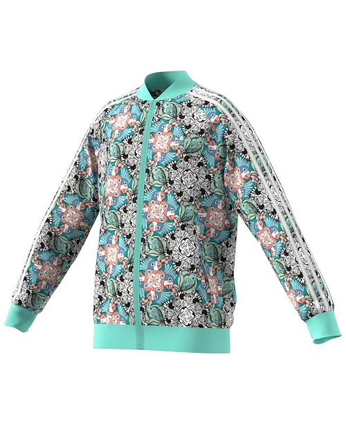 3683636bb61 adidas Big Girls Zoo-Print Track Jacket & Reviews - Coats & Jackets ...