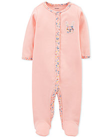 Carter's Baby Girls Bunny Footed Coverall