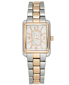 Charter Club Women's Two-Tone Bracelet Watch 24mm, Created for Macy's