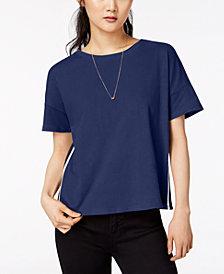 Hippie Rose Juniors' Cotton Side-Stripe T-Shirt