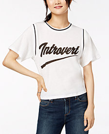 Love Tribe Juniors' Introvert Graphic-Print T-Shirt
