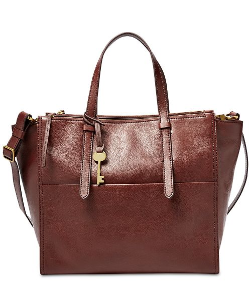 Fossil Campbell Leather Tote