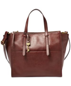 Image of Fossil Campbell Leather Tote