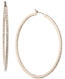Givenchy Pavé Hoop Earrings