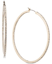 """Givenchy Pavé 2"""" Hoop Earrings"""
