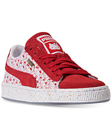 Puma Girls' HELLO KITTY Suede Classic Casual Sneakers from Finish Line