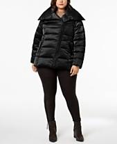8420f5352c5 T Tahari Plus Size Asymmetrical Puffer Coat