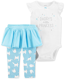 Carter's Baby Girls 2-Pc. Princess Bodysuit & Tutu Leggings Set