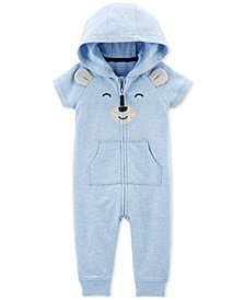Carter's Baby Boys Bear Hooded Cotton Coverall