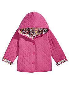 First Impressions Baby Girls Ditzy Floral Quilted Reversible Cotton Jacket, Created for Macy's