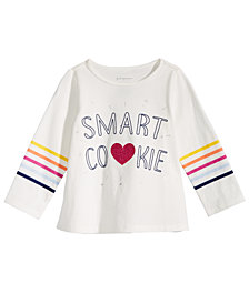 First Impressions Toddler Girls Smart Cookie-Print Cotton T-Shirt, Created for Macy's