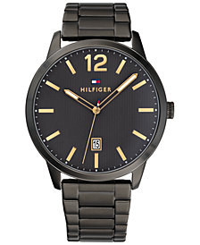 Tommy Hilfiger Men's Black Stainless Steel Bracelet Watch 44mm