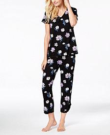 I.N.C. Lace-Trim V-Back Pajama Set, Created for Macy's