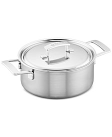 Demeyere Industry 5.5-Qt. Stainless Steel Dutch Oven