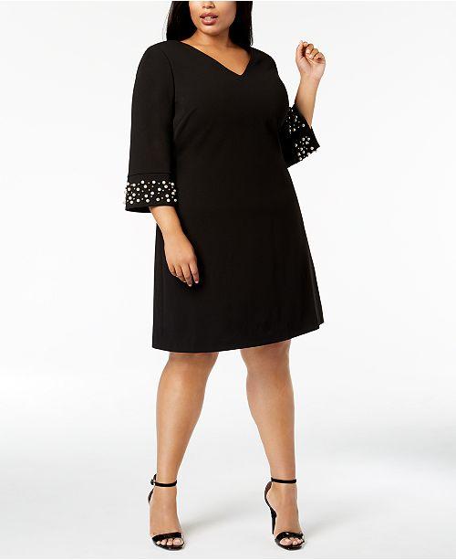 Calvin Klein Plus Size Embellished Sheath Dress & Reviews ...
