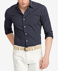 Polo Ralph Lauren Men's Printed Anchor Cotton Classic Fit Shirt