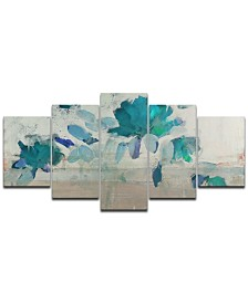 Ready2HangArt 'Painted Petals IV-B' 5-Pc. Canvas Wall Decor Set