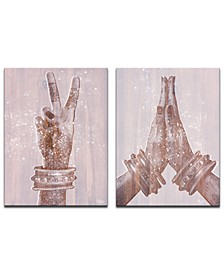 'Peace and Namaste' Inspirational 2-Pc. Canvas Wall Decor Set