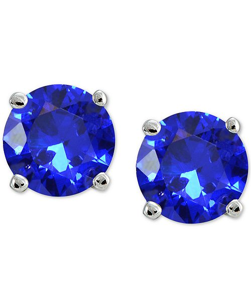 1aa72ba2a Giani Bernini Cubic Zirconia Stud Earrings in Sterling Silver, Created for  Macy's