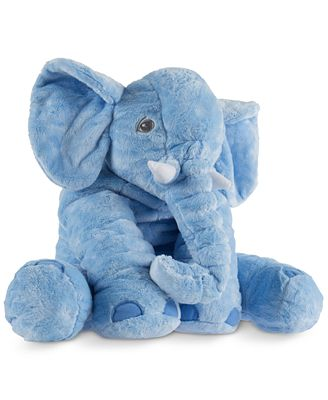 Trademark Global Happy Trails Plush Blue Elephant Stuffed Animal