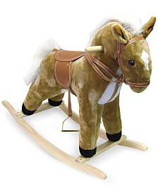 "Trademark Global Happy Trails Plush Rocking Horse, 26"" x 28.75"" x 12"""
