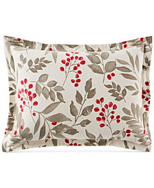 Martha Stewart Collection Bayberry Cotton Flannel Standard Sham, Created for Macy's