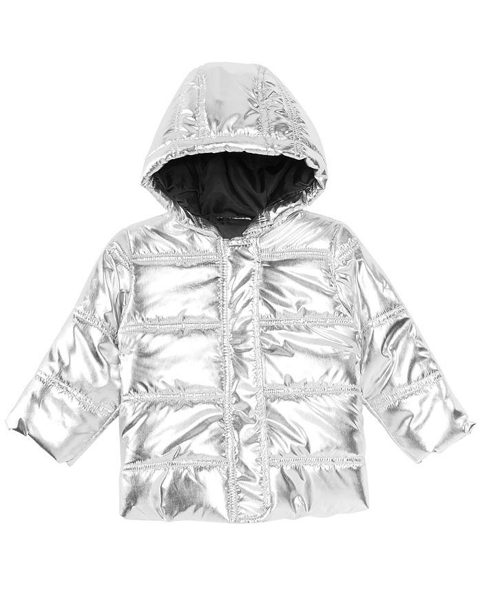 First Impressions - Baby Girls Metallic Puffer Jacket