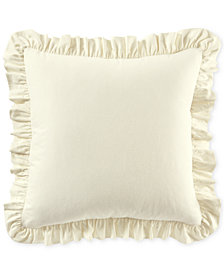 Martha Stewart Collection Luxury Portuguese Flannel Ruffle Euro Shams, Created for Macy's