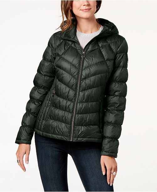 a92c4f62c30 Michael Kors Hooded Packable Puffer Coat   Reviews - Coats - Women ...