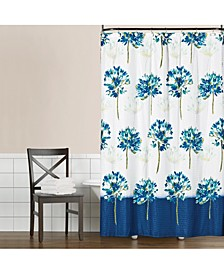 "Blue Medley 70"" x 72"" Seersucker Shower Curtain"