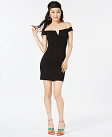 Trixxi Juniors' Off-The-Shoulder Bodycon Dress