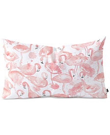Deny Designs Dash and Ash Flamingo Friends Oblong Throw Pillow