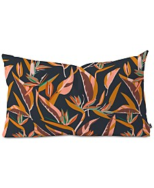 Deny Designs Holli Zollinger Anthology Of Pattern Elle Bird Of Paradise Dark Oblong Throw Pillow